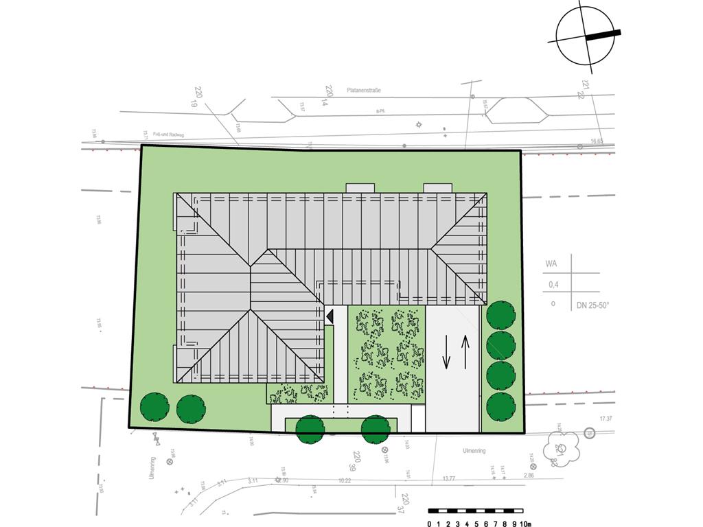 Lageplan für die Eigentumswohnungen Lindenberg-Süd