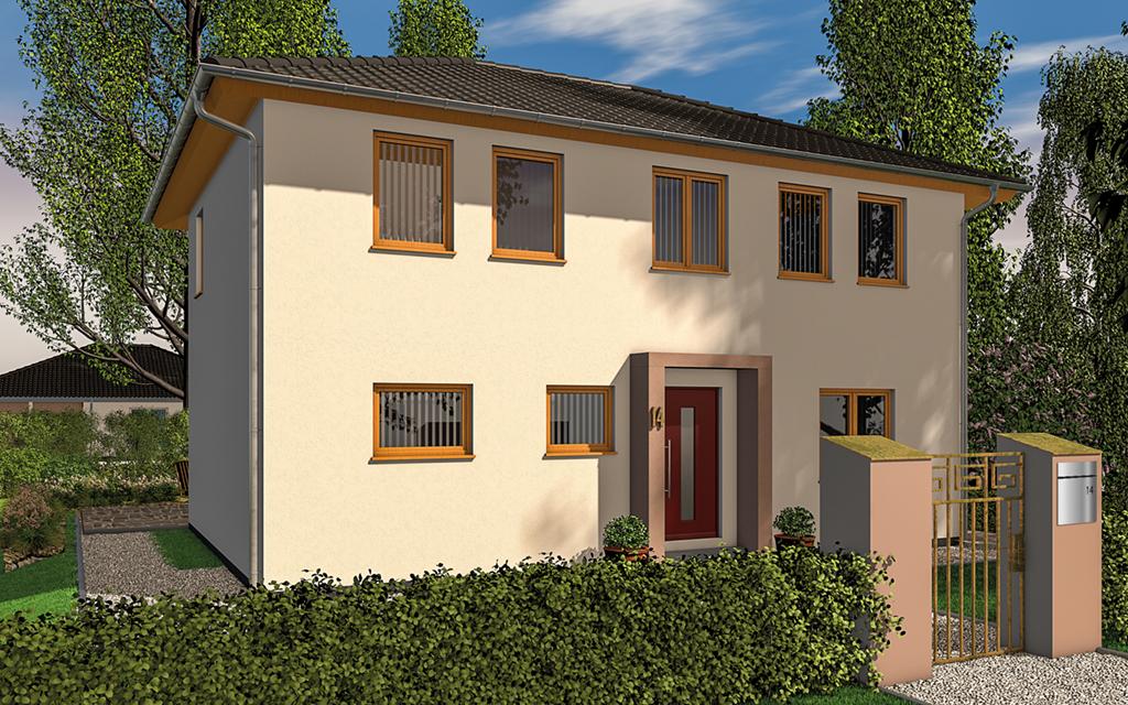 FST Stadtvilla 130 (Projektansicht Straßenseite)