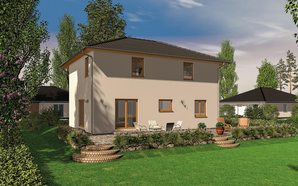 FST Stadtvilla 130 (Projektansicht Gartenseite)