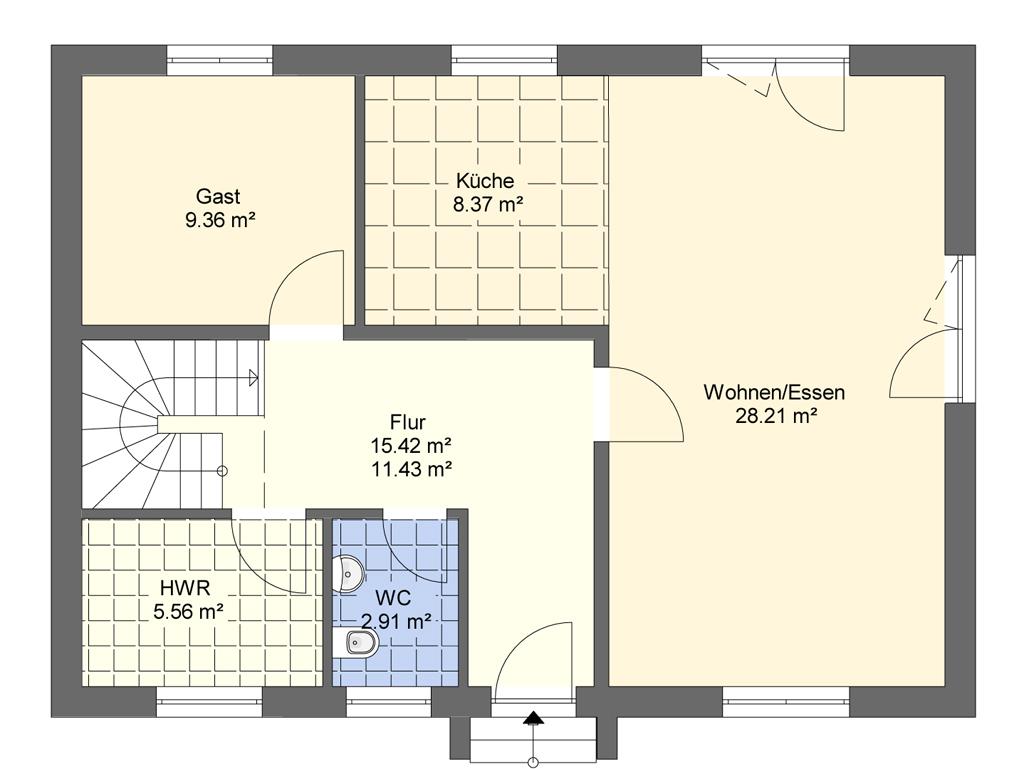 FST Stadtvilla - Grundriss Erdgeschoss