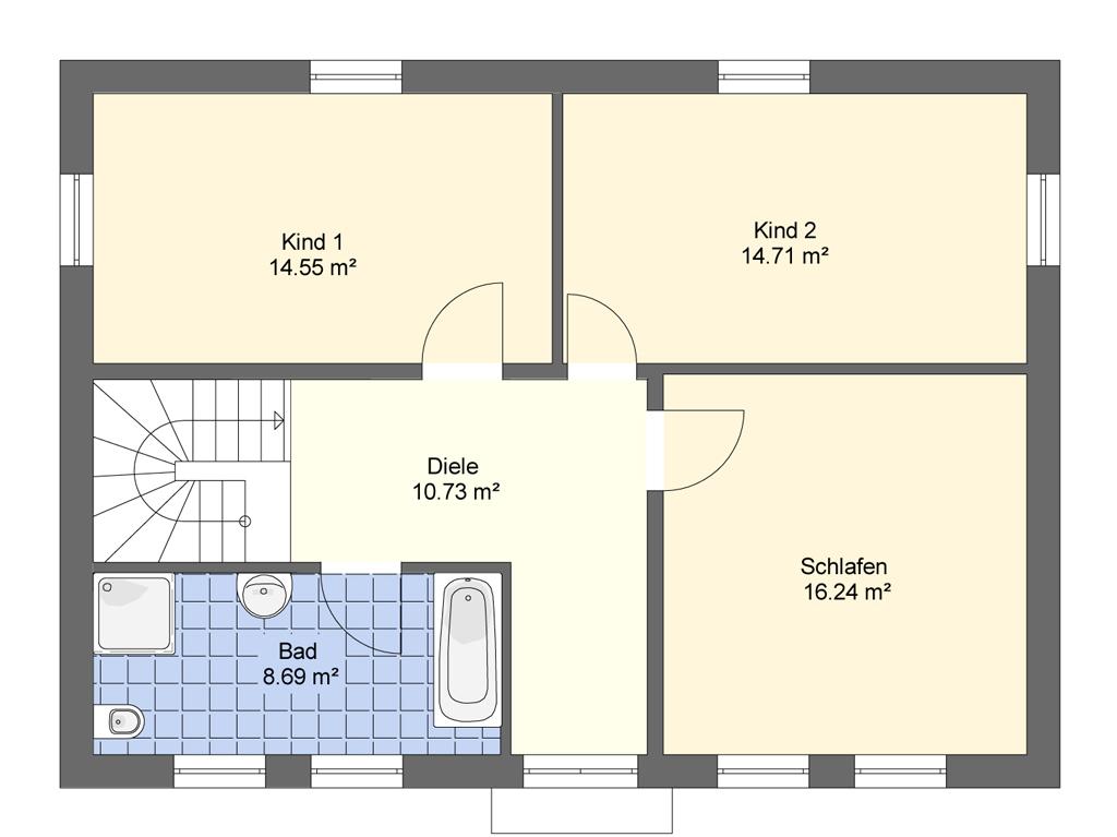 FST Stadtvilla - Grundriss Obergeschoss