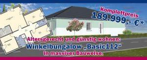 """Winkelbungalow """"Basic 112"""""""